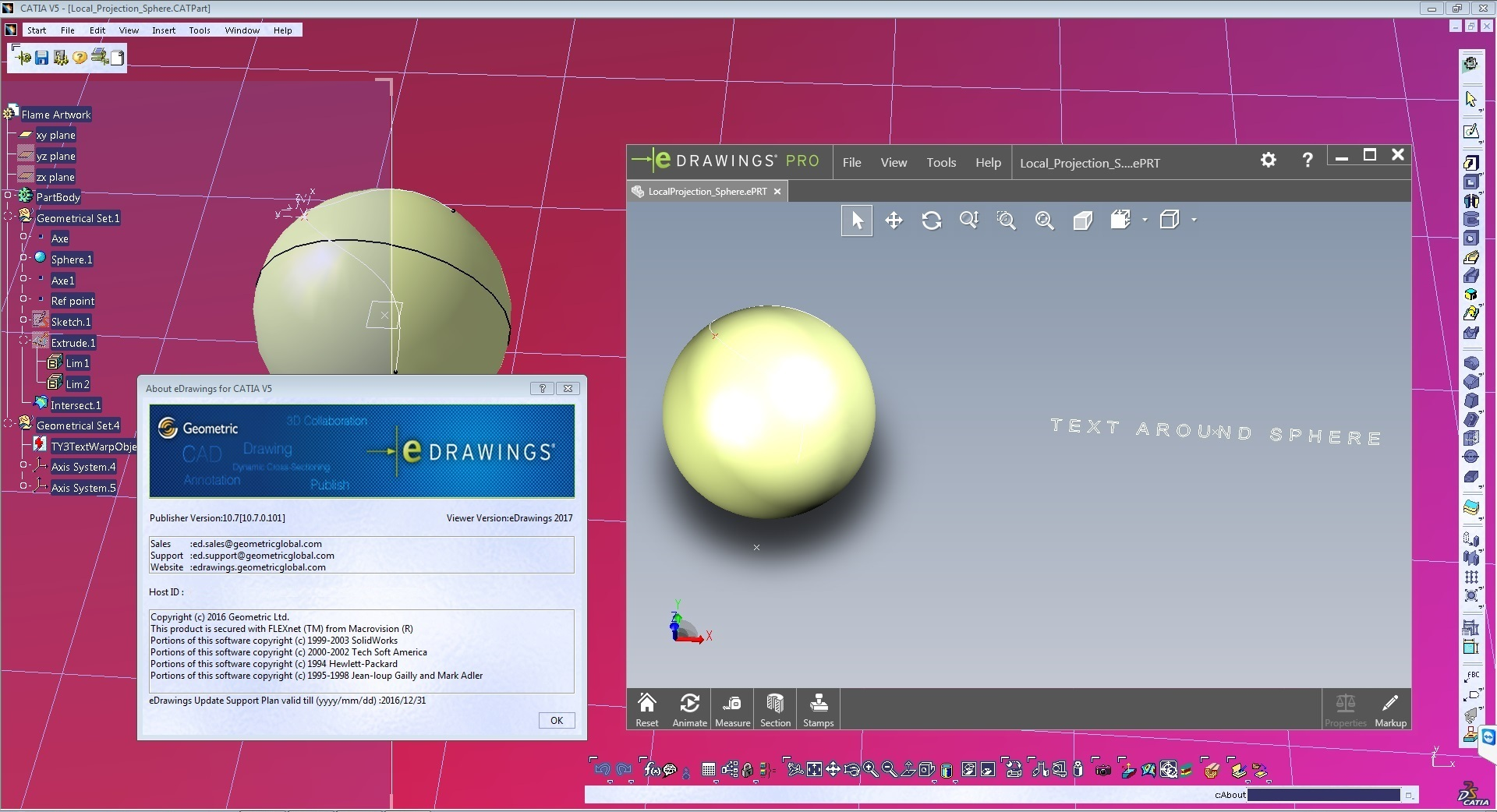 eDrawings Pro 2017 Suite for CATIA V5 R2016