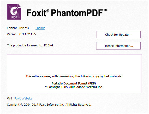 Foxit PhantomPDF Business 8 v8.1.1.1115 Final full software