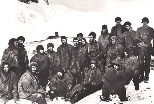 Shackleton Expedition 1914-1916.  Elephant Island, the men left behind.