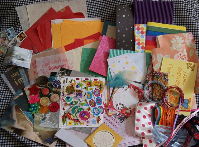 Craft Leftovers July : sent