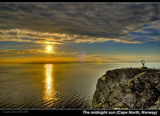 The midnight sun (Cape North, Norway)