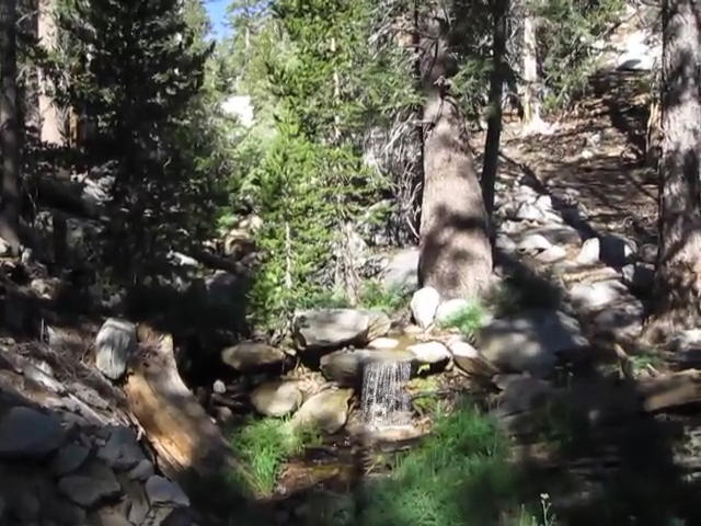 504 Video of the Round Valley Stream with a small waterfall