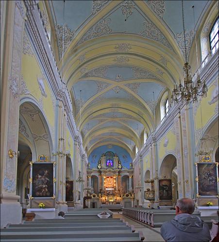 architecture geotagged pastel basilica arches latvia aisle pews lv canonefs1022mmlens aglona canon40d