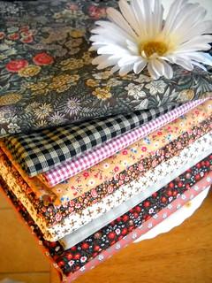 Fall Colored Vintage Fabrics