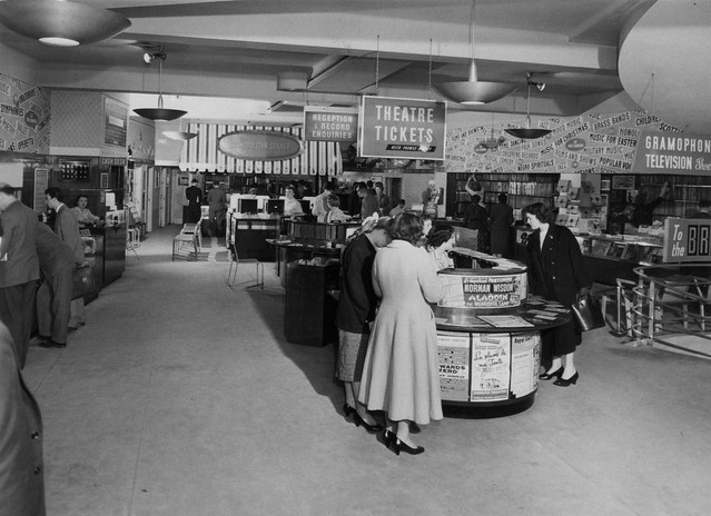 hmv 363 Oxford Street, London - Ground floor - late 1950s