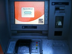 machine, automated teller machine, gadget,
