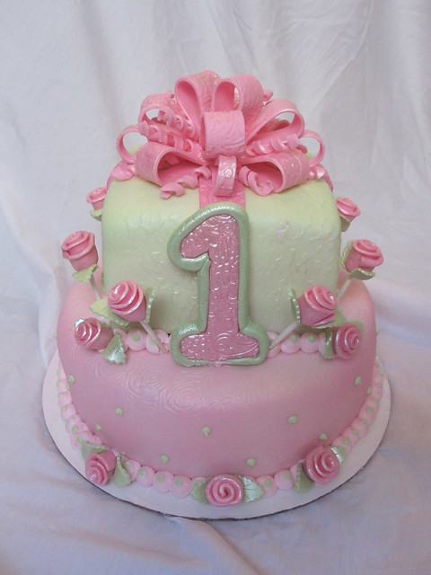 Cake Ideas Birthday Girl : 1st first birthday cake girl Flickr - Photo Sharing!