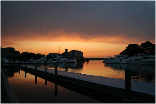 sunset sc water canon 350d nightshot southcarolina coastal hhi sheltercove hiltonheadisland