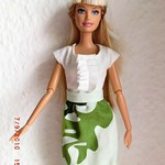 my first hand-made clothing for barbie