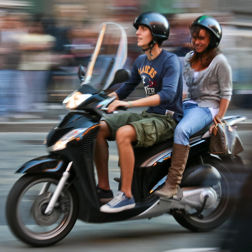 Couple Riding Scooter, Bologna