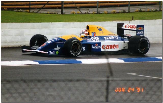 Nigel Mansell Williams Renault FW14 F1. 1991 British GP Test Silverstone