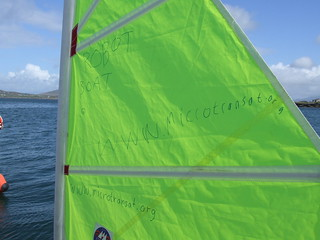 Some advertising on the sail