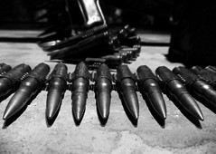 weapon, monochrome photography, close-up, monochrome, black-and-white, black, ammunition,