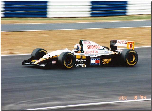 Alex Zanardi Lotus 109 Mugen Honda F1. 1994 British GP Silverstone.
