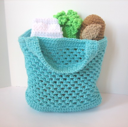 Free Crochet Patterns For Grocery Bags : GROCERY TOTE PATTERN Free Patterns