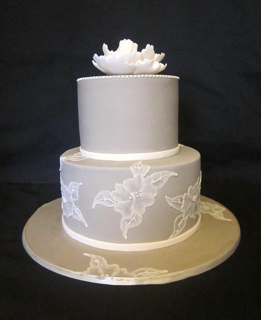 Brush Embroidery Wedding Cake  Flickr  Photo Sharing