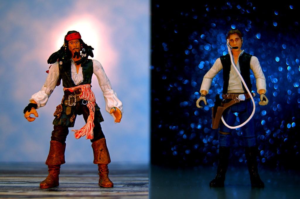 Captain Jack Sparrow vs. Captain Han Solo (262/365)