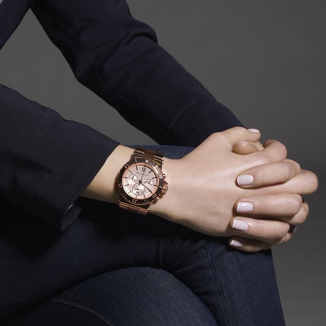 Rose Gold Watch Michael Kors Chronograph Rose Gold Michael Kors Ladies