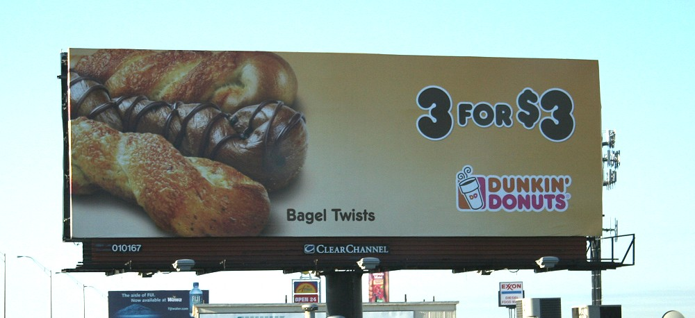 BILLBOARD - Dunkin Donuts Bagel TwistsDunkin Donuts Billboard