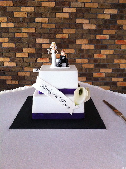 Royal Purple and Black Wedding Cake This was for a very cool couple