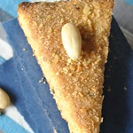 Cornmeal and almond triangles