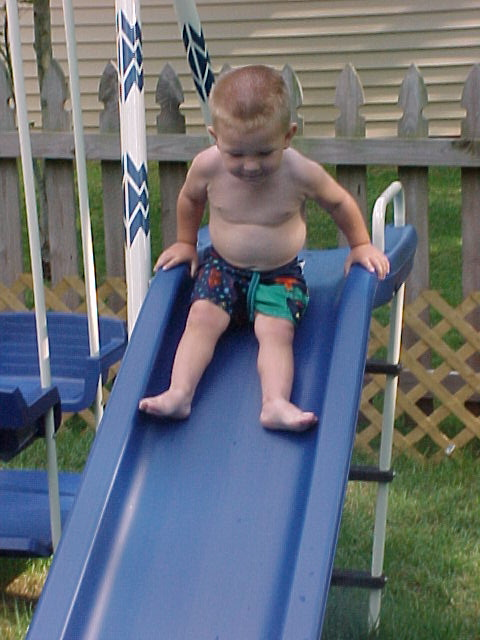 A down slide