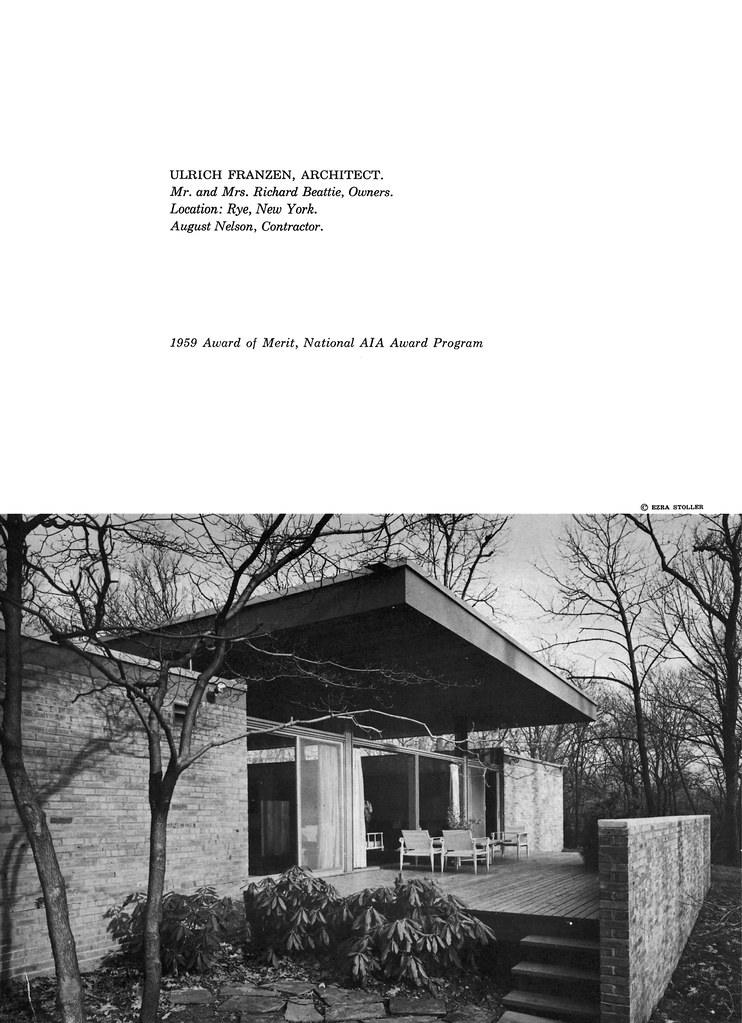 Beattie Residence - Rye, New York - 1958 (Page 2 of 6)