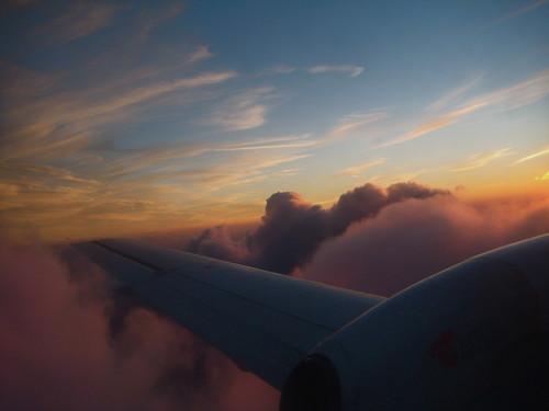 Landing on pink clouds - Flickr CC borkurdotnet