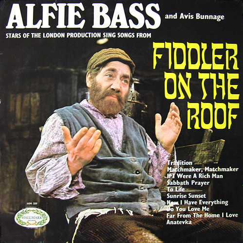 ALFIE BASS & AVIS BUNNAGE - Fiddler On The Roof - LP