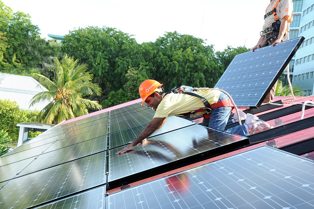 installing solar panels maldives