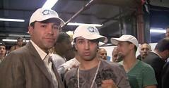 Oscar De La Hoya and Paulie Malignaggi