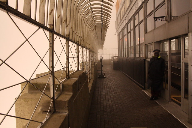 Empire State Building Observatory Deck is all in the clouds