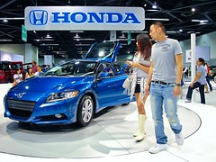 automobile, exhibition, vehicle, automotive design, auto show, honda cr-z, land vehicle, sports car,