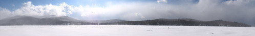 trees winter panorama lake snow clouds frozen woods stitch newhampshire blowing nh mount assist fells sunapee newbury the