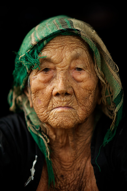 Very old woman