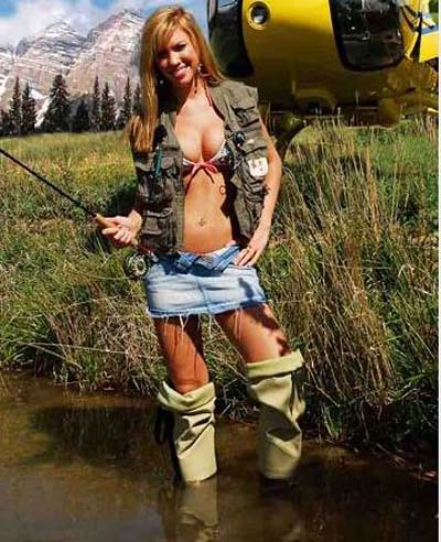 Sexy German Farm Girl Calendar on ice fishing houses on