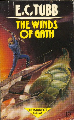 Dumarest Saga Book 1 - The Winds of Gath - E.C. Tubb - cover artist Blas Gallego