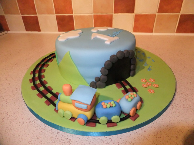 Images Of Train Birthday Cakes : Train birthday cake Flickr - Photo Sharing!