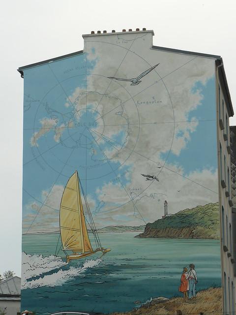 Fresque de pascal Pellerin Rive droite (Brest), rue anatole France