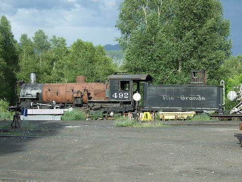 railroad colorado rail loco co locomotive nm chama cts cumbres narrowguage toltec 492 drgw k37
