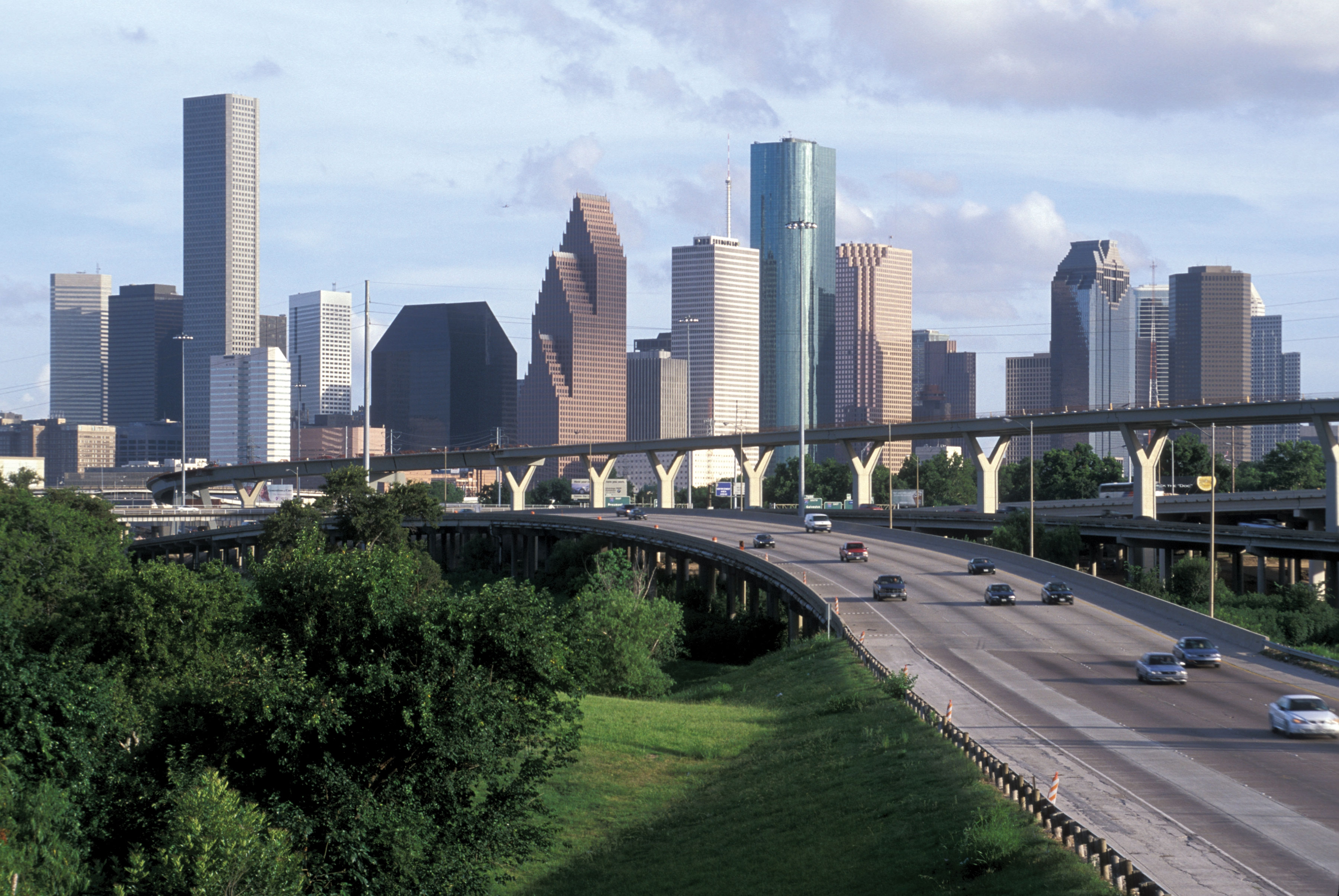 Houston skyline freeway shoot flickr photo sharing for Us city skylines photos