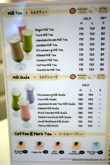 Bubble Tea Tokyo milk restaurant menu | Flickr - Photo ...