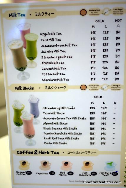 Bubble Tea Tokyo milk restaurant menu | Flickr - Photo ...
