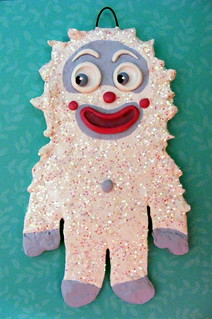 Sugared Yeti Ornament