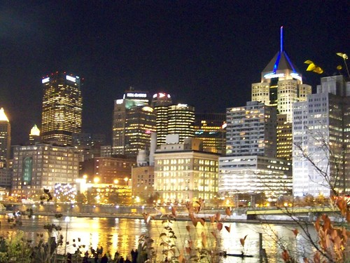 Pittsburgh Skyline during Light Up Night