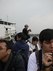 Hunters on boat