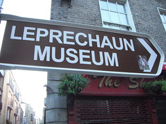 Sign for the Leprechaun Museum, Dublin