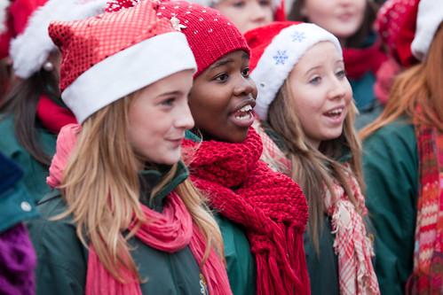 Girl's Choir - Official Switching On Of Christmas Lights, Grafton Street