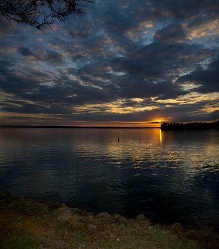 sunset sky sun lake color sc water clouds evening lakemurray