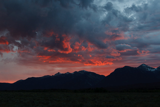 Sunset in Grant Teton
